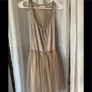 Beige Lower neck dress.!